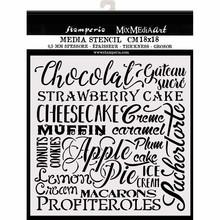 Stamperia Media Stencil Chocolate (KSTDQ61)