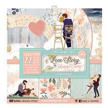 Stamperia Love Story 12x12 Inch MAXI PAD (SBBXLB07)
