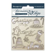 Stamperia Decorative Chips Classic Christmas (SCB05)