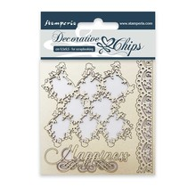 Stamperia Decorative Chips Lace and Border (SCB07)
