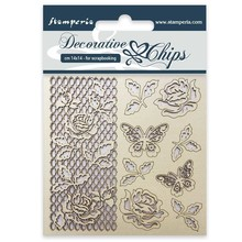 Stamperia Decorative Chips Rose and Butterfly (SCB16)