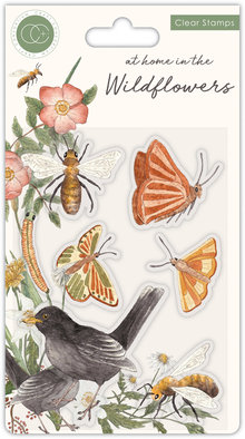 Craft Consortium At Home in the Wildflowers Bees & Butterflies Clear Stamps (CCSTMP037)