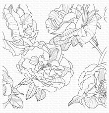 My Favorite Things Fanciful Roses Rubber Background Stamp (BG-120)