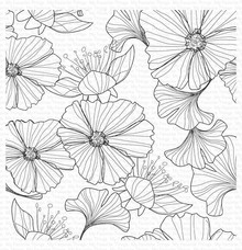 My Favorite Things Loosely Lined Flowers Rubber Background Stamp (BG-123)