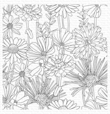 My Favorite Things Flower Field Rubber Background Stamp (BG-126)