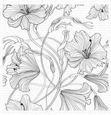 My Favorite Things Harmonious Hibiscus Rubber Background Stamp (BG-127)