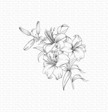 My Favorite Things Lavish Lilies Rubber Stamp (BG-129)