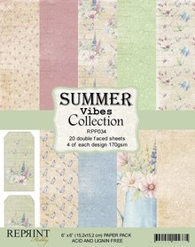 Reprint Summer Vibes 6x6 Inch Paper Pack (RPP035)