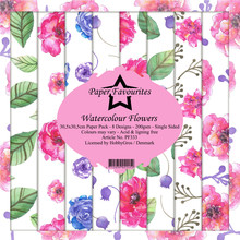 Paper Favourites Watercolour Flowers 12x12 Inch Paper Pack (PF333)