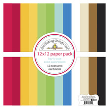 Doodlebug Design Inc. Bar-b-cute 12x12 Inch Textured Cardstock Paper Pack (6914)