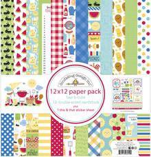 Doodlebug Design Inc. Bar-b-cute 12x12 Inch Paper Pack (6912)