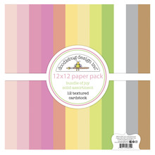 Doodlebug Design Inc. Bundle of Joy 12x12 Inch Textured Cardstock Paper Pack (6855)