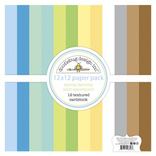 Doodlebug Design Inc. Special Delivery 12x12 Inch Textured Cardstock Paper Pack (6856)