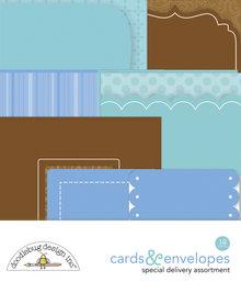 Doodlebug Design Inc. Baby Boy Cards & Envelopes (12pcs) (6865)