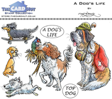 The Card Hut A Dog's Life Clear Stamps (MBPADL)