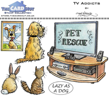 The Card Hut TV Addicts Clear Stamps (MBPTA)
