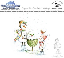 The Card Hut Snowboots: Anyone For Christmas Pudding Clear Stamps (CCSBCP)