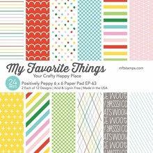 My Favorite Things Positively Peppy 6x6 Inch Paper Pad (EP-63)