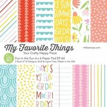 My Favorite Things Fun in the Sun 6x6 Inch Paper Pad (EP-64)