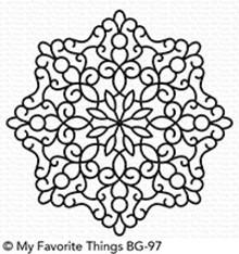 My Favorite Things Magical Mandala Rubber Background Stamp (BG-97)