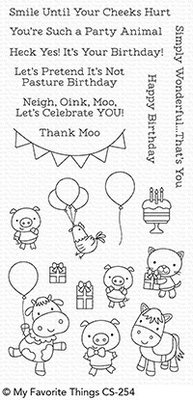 My Favorite Things Party Animals Clear Stamps (CS-254)
