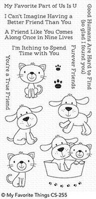 My Favorite Things Furever Friends Clear Stamps (CS-255)