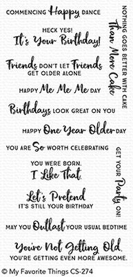 My Favorite Things Anything-but-Basic Birthday Wishes Clear Stamps (CS-274)