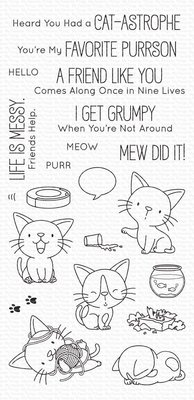 My Favorite Things Cat-astrophe Clear Stamps (BB-104)