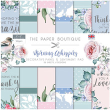 The Paper Boutique Morning Whispers 8x8 Inch Decorative Panel & Sentiment Pad (PB1307)