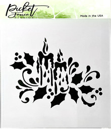 Picket Fence Studios Candlelight Stencil (SC-175)