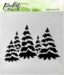 Picket Fence Studios Field of Snowy Trees Stencil (SC-178)