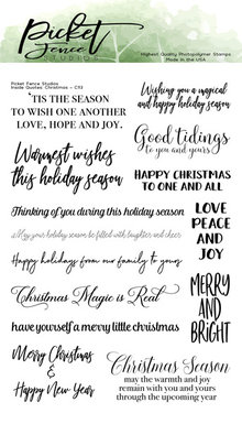 Picket Fence Studios Inside Quotes: Christmas Clear Stamps (C-113)