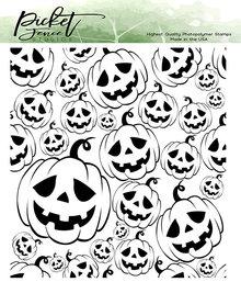 Picket Fence Studios Jack-O-Lanterns Clear Stamps (H-110)