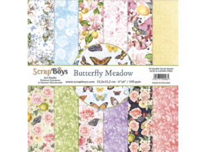 ScrapBoys Butterfly Meadow 6x6 Inch Paper Pad (BUME-09)