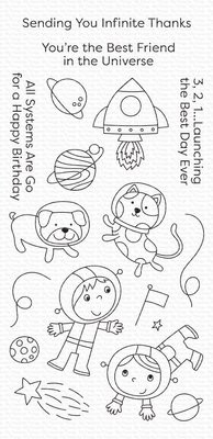 My Favorite Things Best Friends in the Universe Clear Stamps (CS-488)