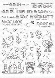My Favorite Things Hanging with My Gnomies Clear Stamps (BB-101)