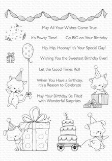 My Favorite Things Pawty Time Clear Stamps (SY-23)