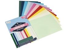 Craft Sensations Linen Cardstock 12 Colours A4 220 Grams (CR0239/18GE)