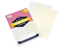 Craft Sensations Linen Cardstock White/Creme A4 220 Grams (CR0239/18GE)