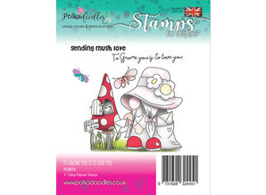 Polkadoodles To Gnome is to Love You Clear Stamps (PD8075)