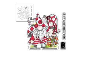 Polkadoodles Gnome Matter What Clear Stamp (PD8077)