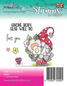 Polkadoodles Gnome Body Else Will Do Clear Stamp (PD8080)