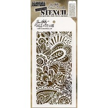 Stampers Anonimous Tim Holtz Doodle Art 1 Layered Layering Stencil (THS141)