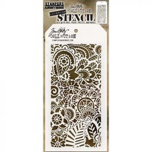 Stampers Anonimous Tim Holtz Doodle Art 2 Layered Layering Stencil (THS142)