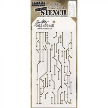 Stampers Anonimous Tim Holtz Circuit Layered Layering Stencil (THS146)