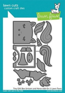 Lawn Fawn Tiny Gift Box Unicorn and Horse Add-On Dies (LF2173)