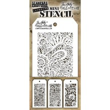 Stampers Anonimous Tim Holtz Mini Layering Stencil Set 47 (THMST047)