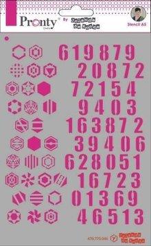 Pronty Crafts Masking Stencil A5 Pattern Numbers (470.770.046)