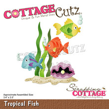 Scrapping Cottage CottageCutz Tropical Fish (CC-769)