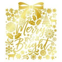 Gemini Foil Stamp Die Merry and Bright Create A Card (GEM-FS-CAC-MEBR)
